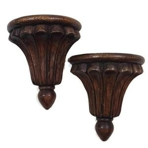 Wooden Scallop Wall Sconces
